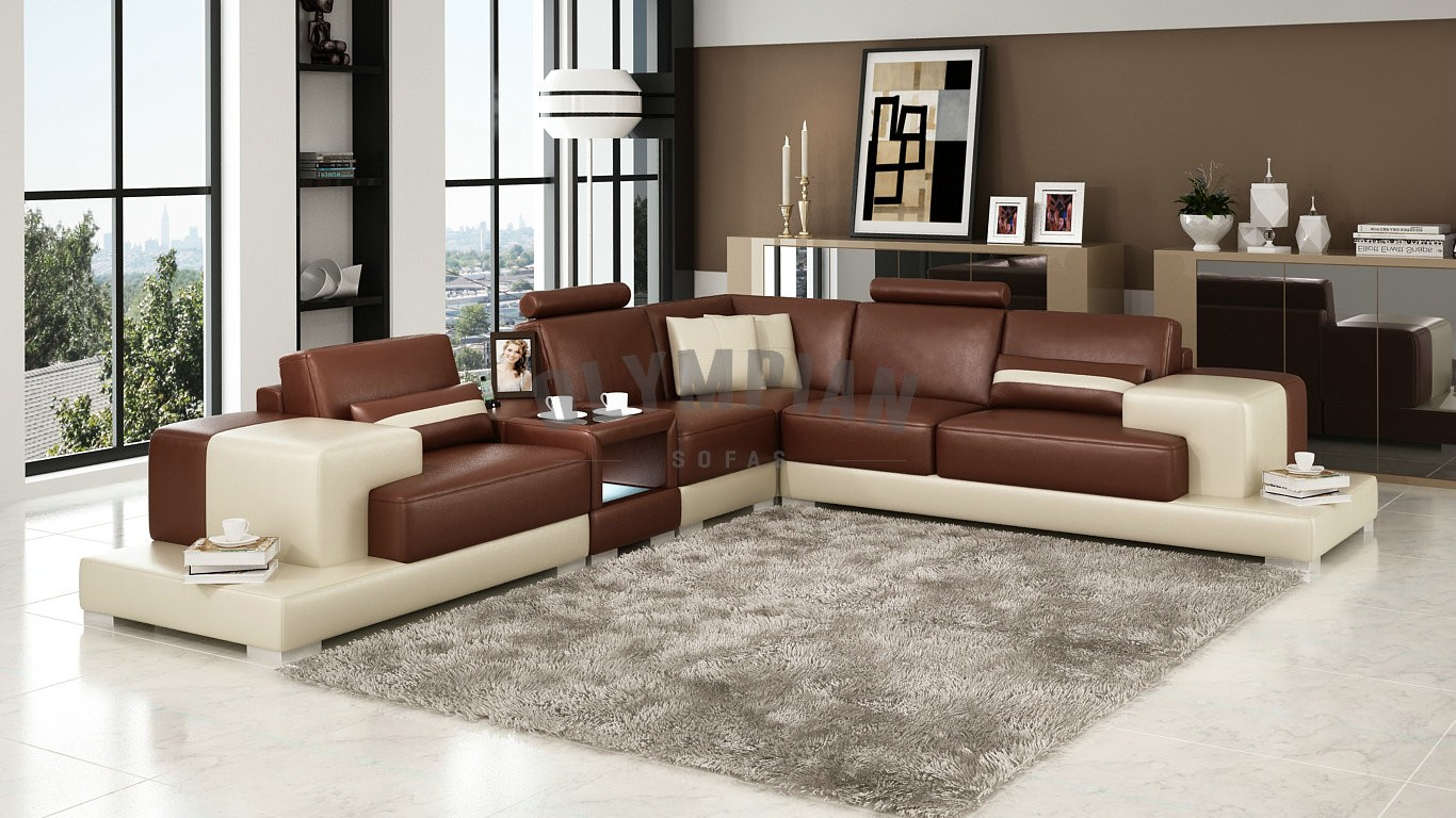corner sofa brown and cream hard foam for leather lovely