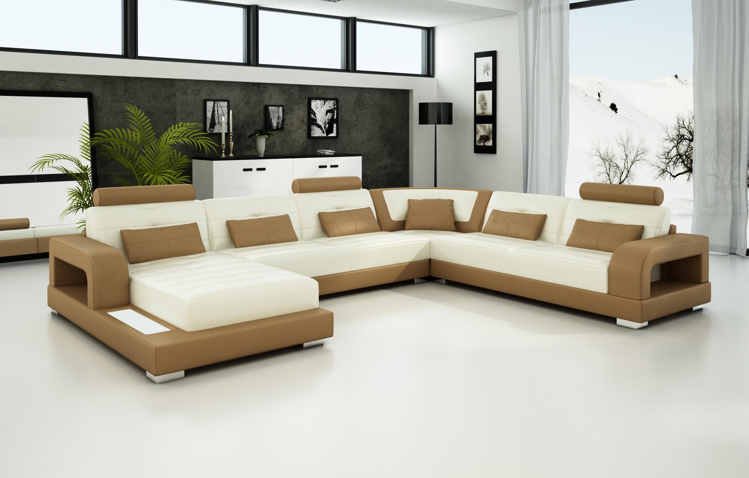 Olympian Sofas Pesaro Light Brown Leather Sofa