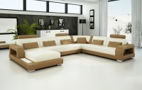 Olympian Sofas Pesaro Light Brown Leather Sofa - Sectional ...