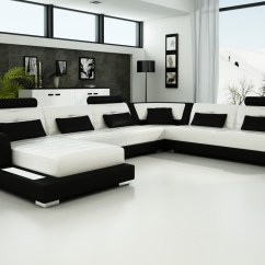 Black And White Leather Sofa Style Bed Olympian Sofas Pesaro