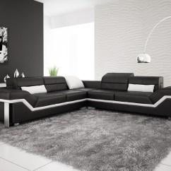 Black And White Leather Sofas For Sale Sofa Serpentine Spring Repair Kit Olympian Rimini Corner