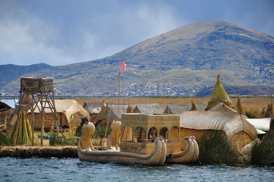 Iles Uros, Pérou, Titicaca