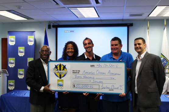 Barbados Olympic athletes 'going for gold' with help from the Barbados Lottery
