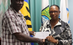 The Barbados Olympic Association donates to the Barbados Huntsman Games Delegation
