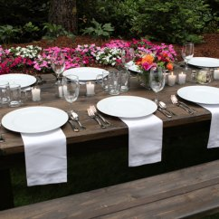 Rent Wedding Tables And Chairs Chair Covers Rentals In Dallas Farm Table, Bench/chair | Olympic Style Events