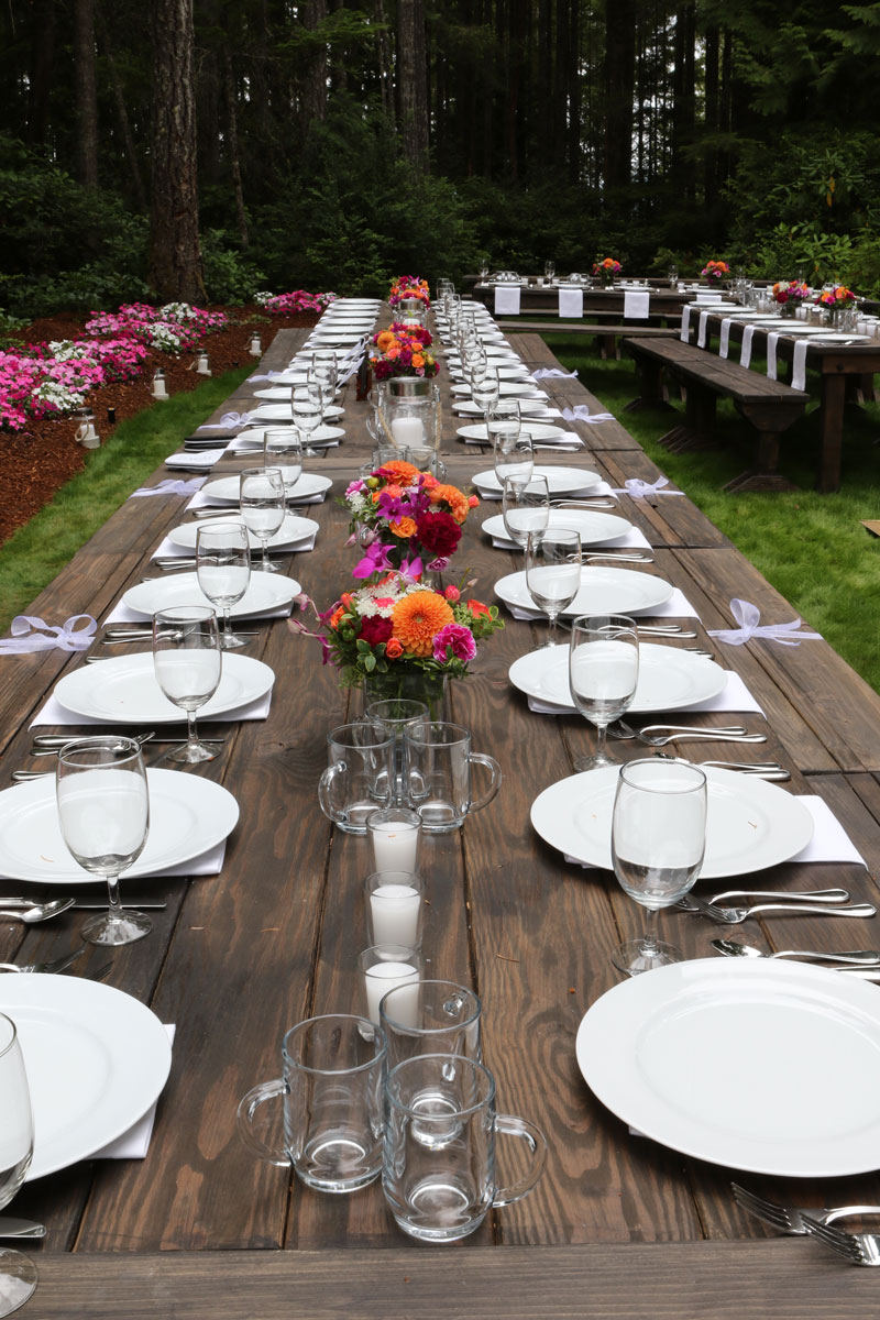 Farm Table BenchChair Rentals  Olympic Farm Style Events