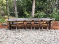 Farm Table, Bench/Chair Rentals | Olympic Farm Style Events