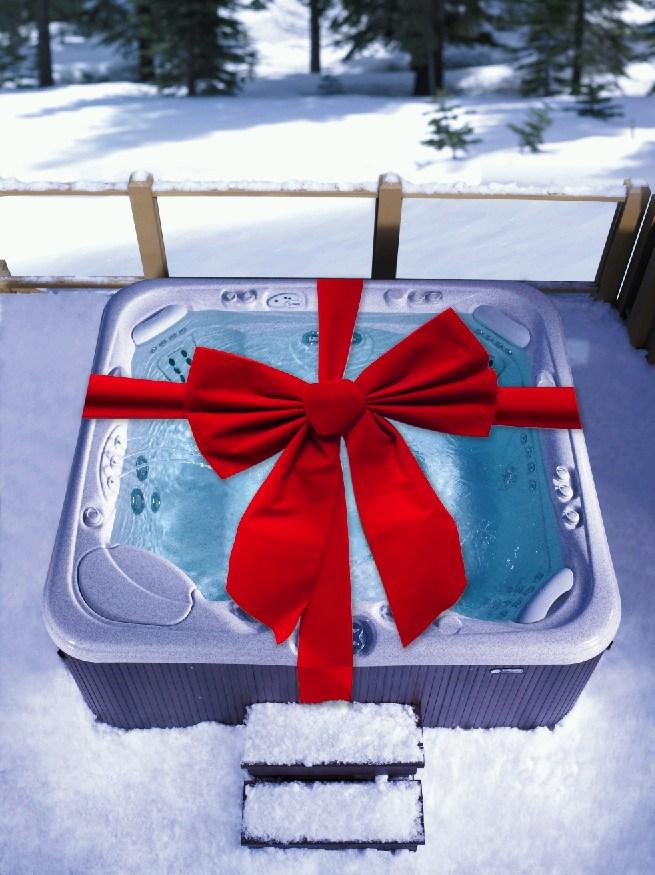 Best Christmas Present Husband Arranges Surprise Hot Tub