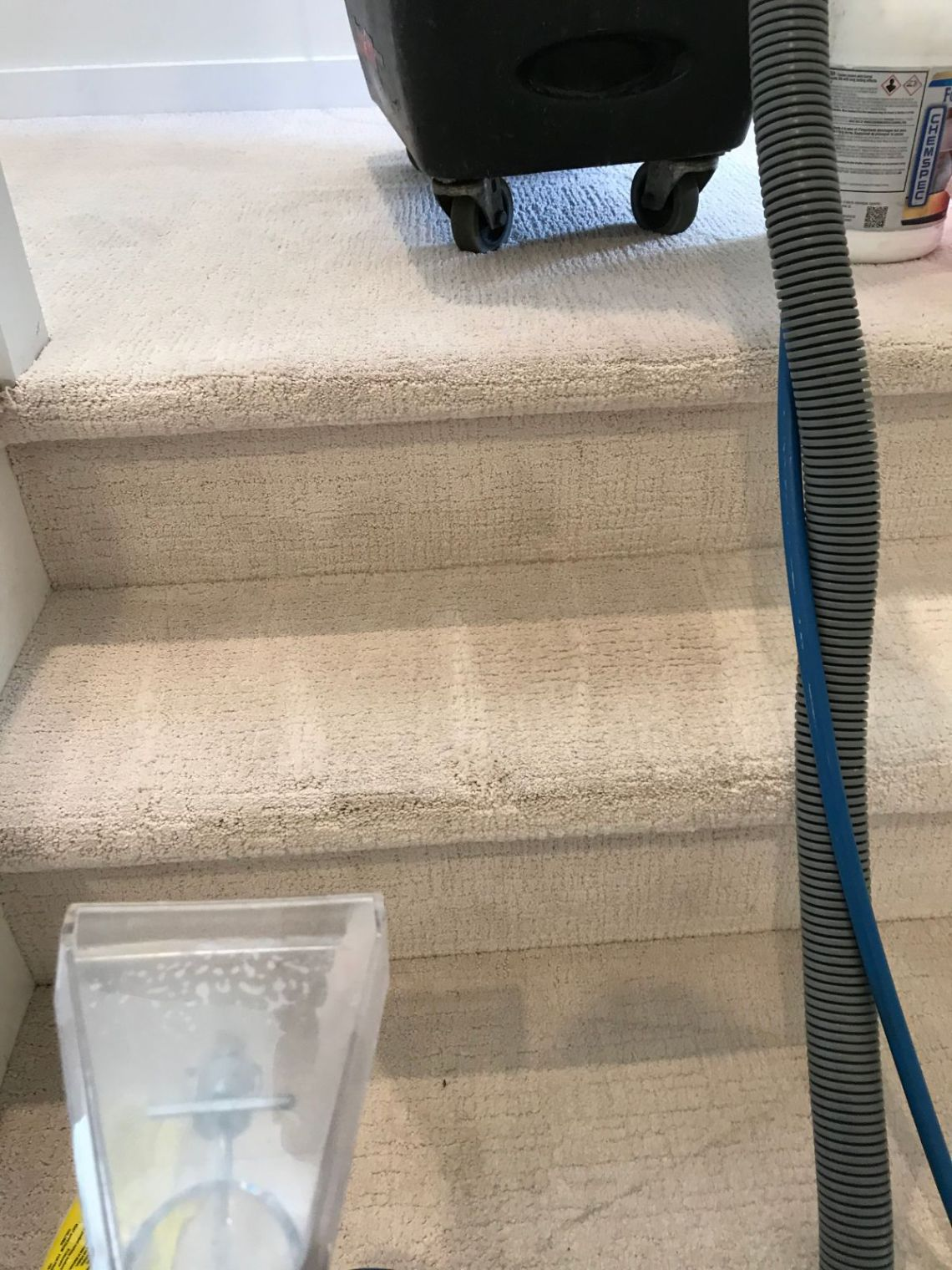 Cleaning Carpet on Stairs NYC