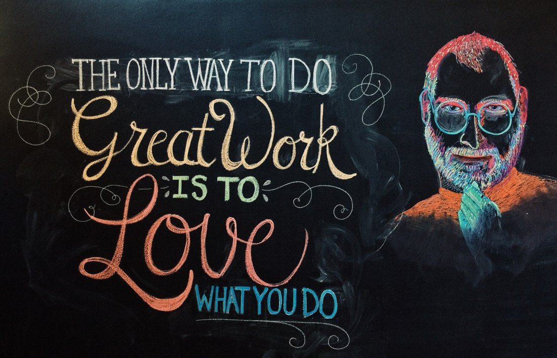 Only way to do great work is…