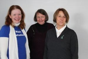 Frå venstre Kristin Voneheim , Sigrun Bergseth og Anne Kristin Huse er fylkeskontaktar i Møre og Romsdal, Buskerud og Hedmark.
