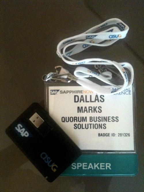 SAPPHIRE 2010 Quorum Speaker