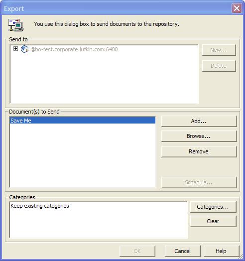 Desktop Intelligence Save Me Export