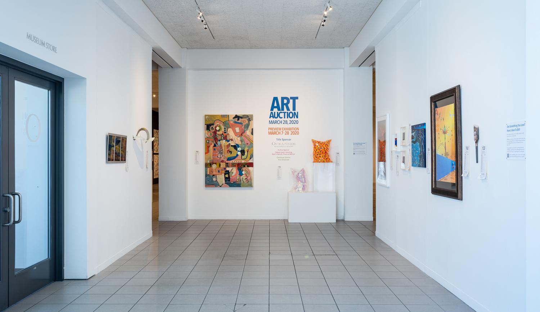 Art Auction gallery entrance