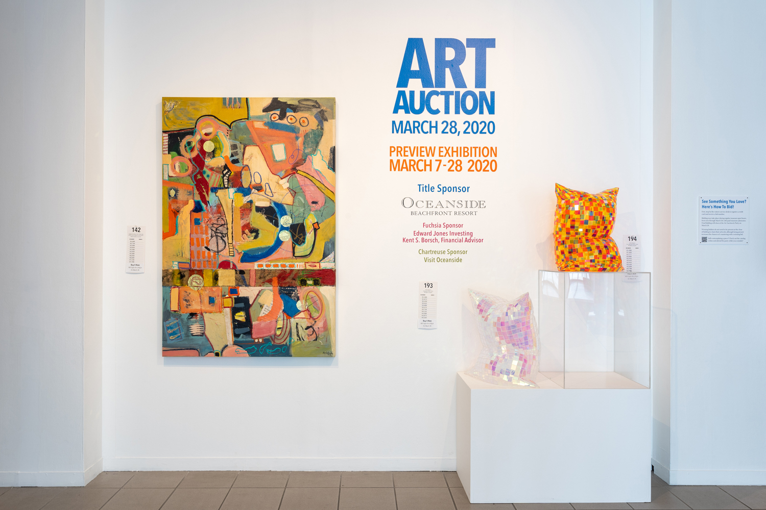 Art Auction feature wall