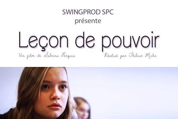 """Affiche de """"Leçon de Pouvoir""""/Site de Sabrina Perquis"""