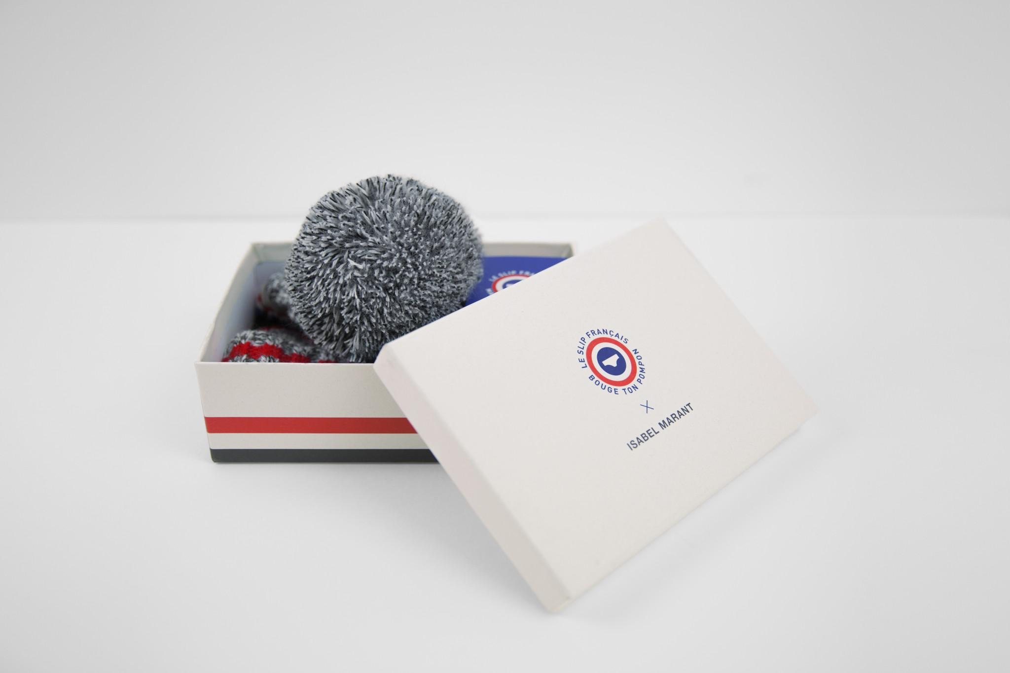Le bonnet Isabel Marant pour Bouge ton Pompon est en vente sur  www.leslipfrancais.fr/bouge,ton,pompon et dans tous les points de vente Le  Slip Français.