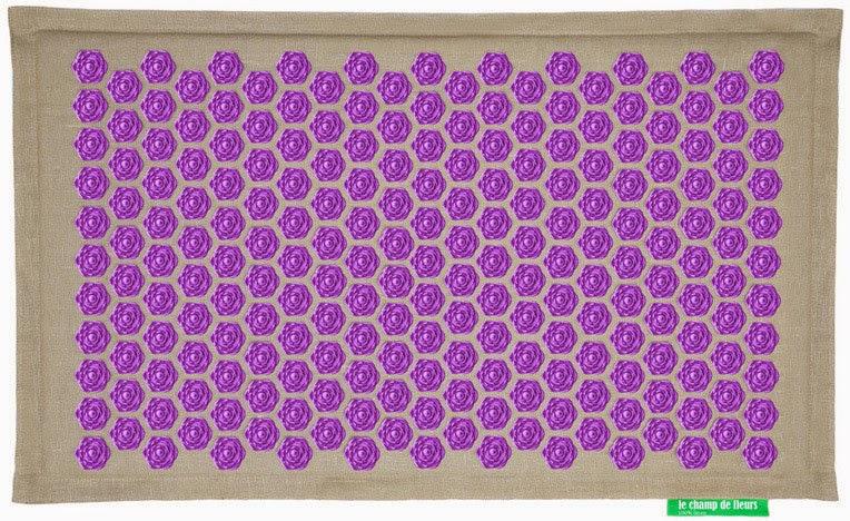 présentation du tapis de fleurs