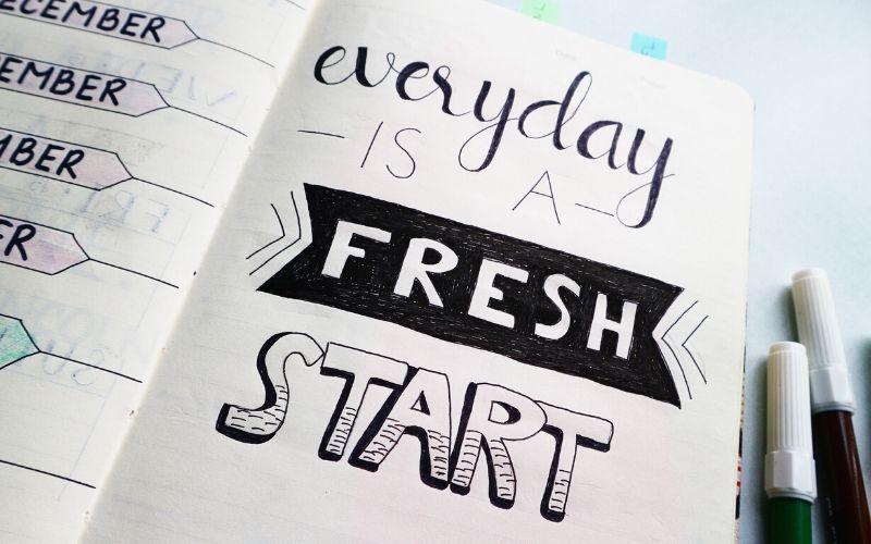 chaque jour est un nouveau départ