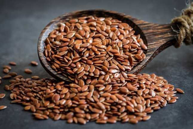 Graines de lin contribuant à une alimentation équilibrée.