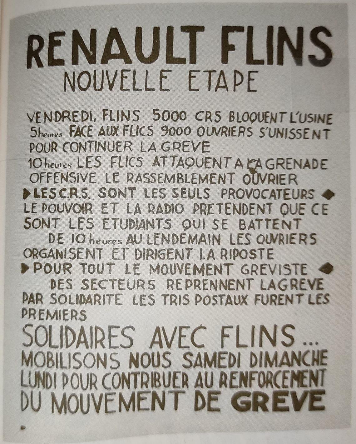 Renault Flins, nouvelle étape