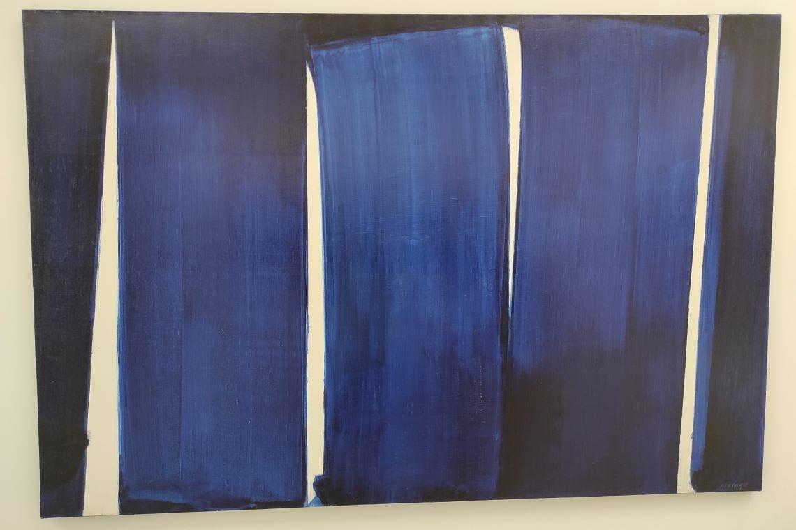 Pierre Soulages, Montpellier et le Musée Fabre - grand format bleu