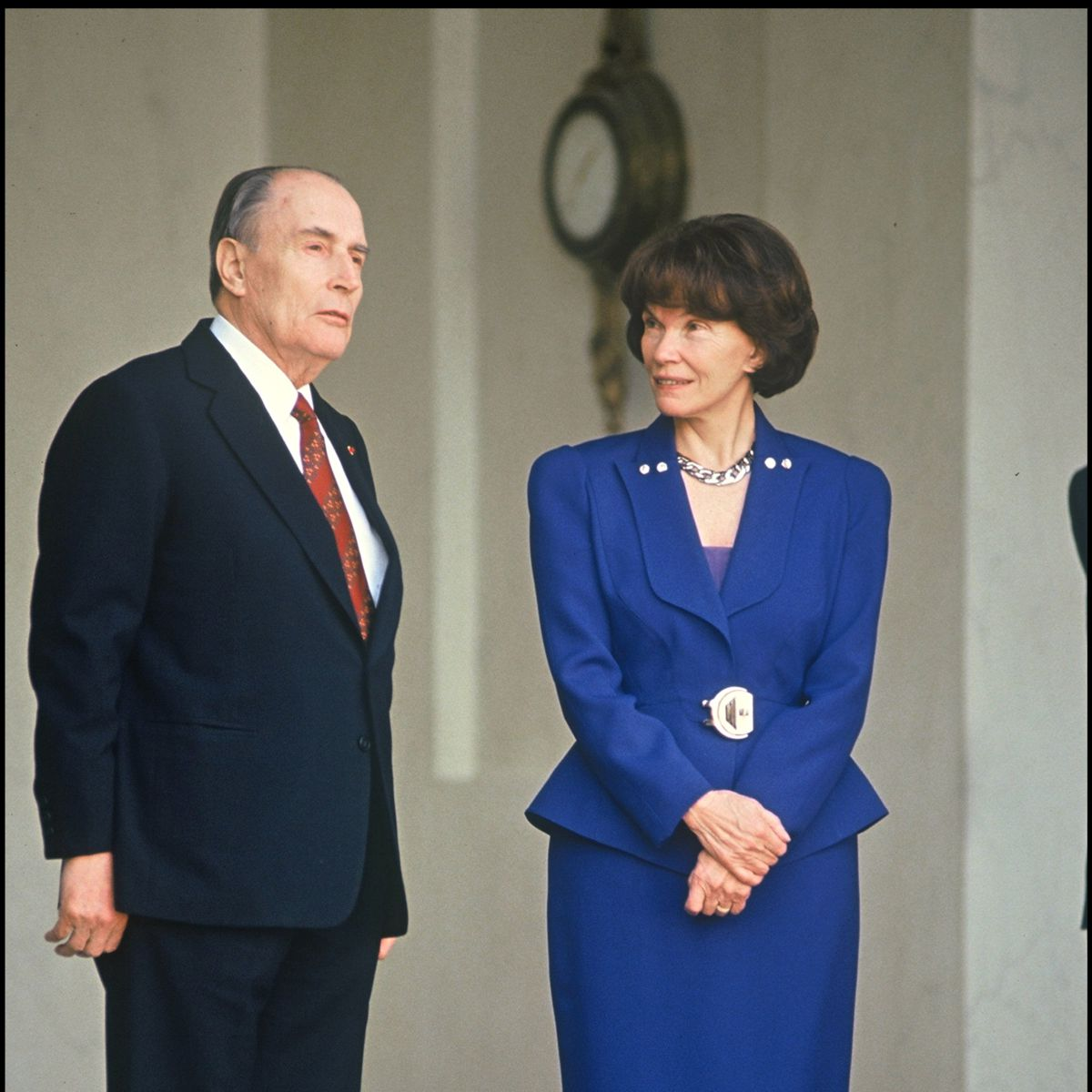 François et Danielle Mitterand à l'Élysée en 1992.