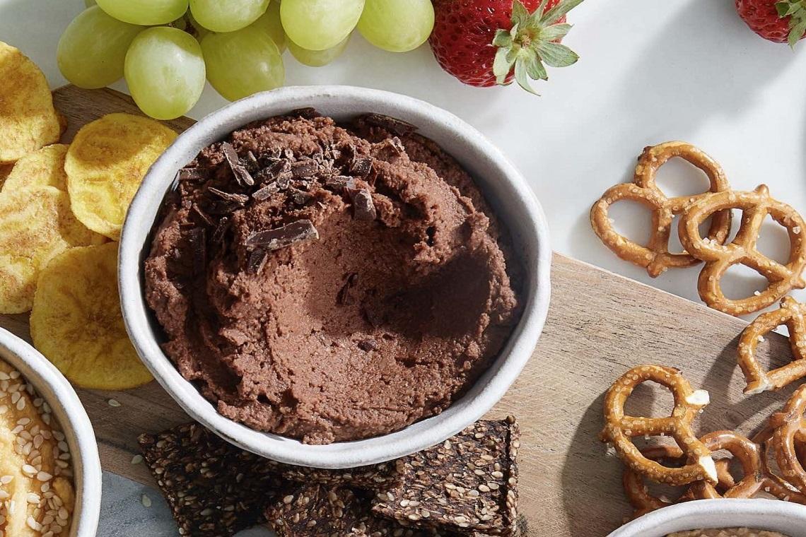 Houmous façon brownie.