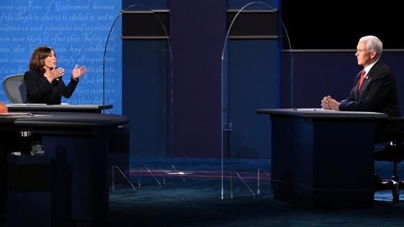Kamala Harris face à Mike Pence lors du débat télévisé du 7 octobre 2020