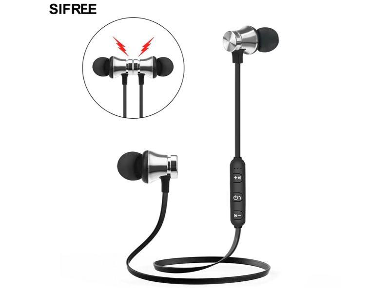 Des écouteurs Bluetooth qui sont pratiques pour le sport.