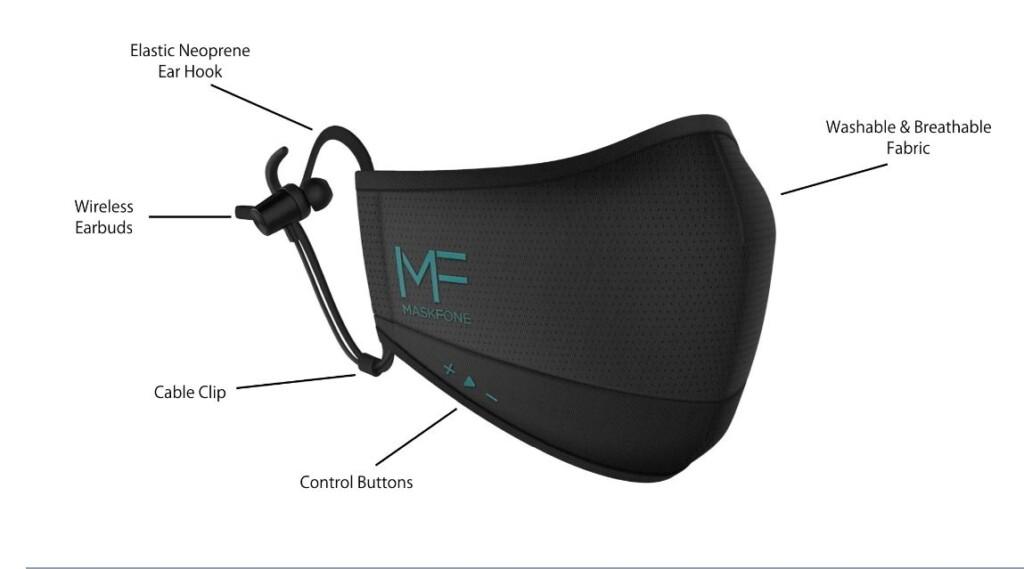 Le masque anti-covid connecté, kit mains libre