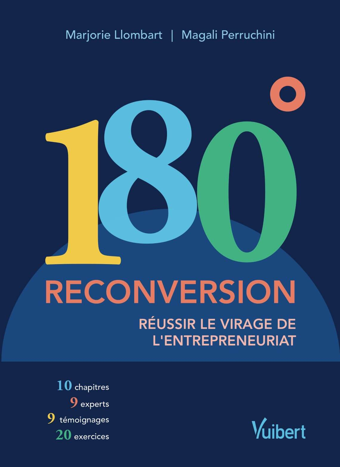 Couverture du livre 180° Reconversion. Réussir le virage de l'entrepreneuriat.