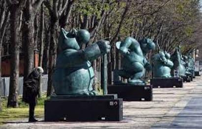 Le Chat déambule, exposition de Philippe Geluck à Bordeaux. / © 20 Minutes.