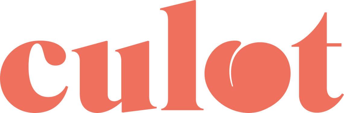 Visuel de la newsletter Culot : le mot culot est écrit en orange. Le O est remplacé par un abricot.