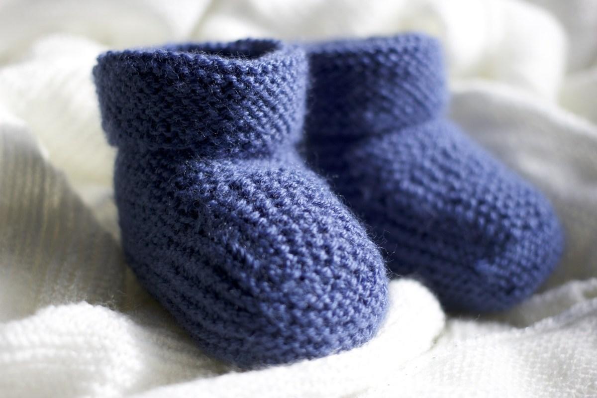 Chaussons pour bébé bleus