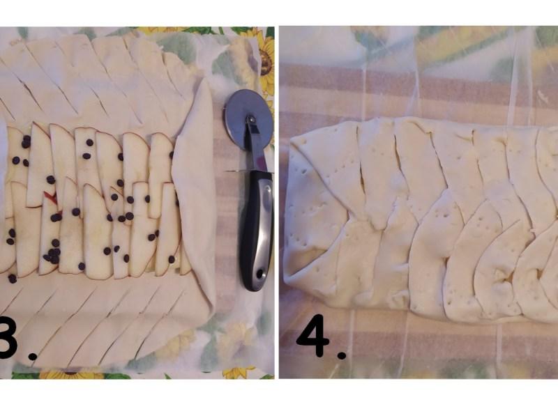 faux strudel aux pommes - farcir le dessert
