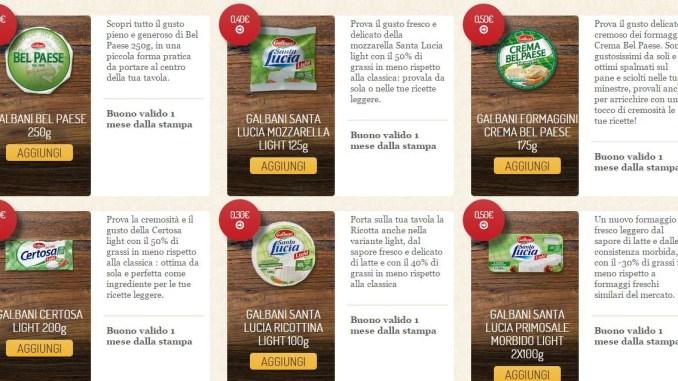 Buoni Sconto Galbani: risparmia sui prodotti light