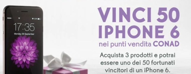 """Concorso Conad """"ll pulito chiama"""": vinci un iPhone 6"""