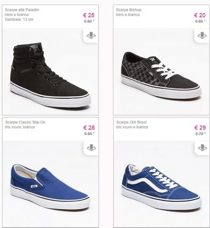 Vans in offerta super scontate