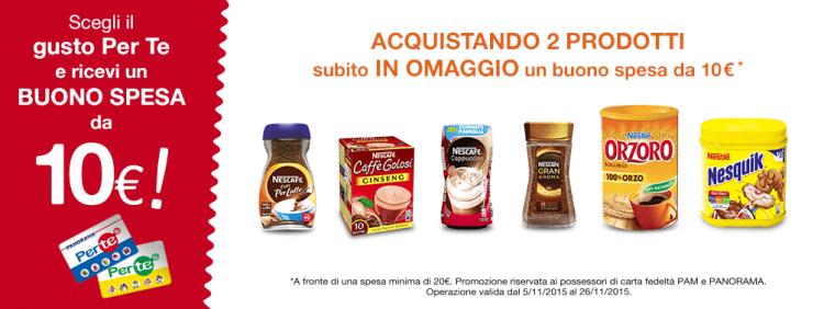 Scegli il gusto Nescafè, Nesquik e Orzoro che fa per te e ricevi un buono spesa da 10 €