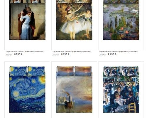 Sogni d'Autore: completi letto personalizzati con opere d'arte