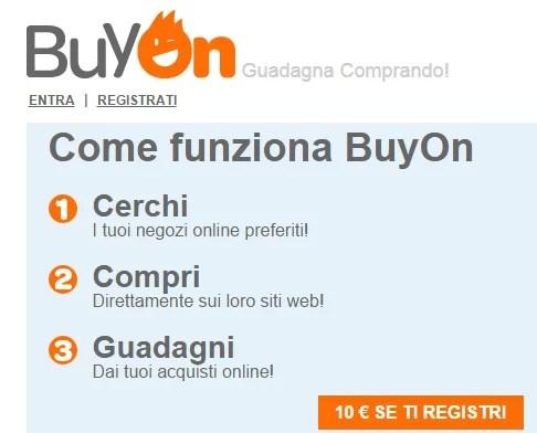 BuyOn: guadagna comprando grazie al cashback