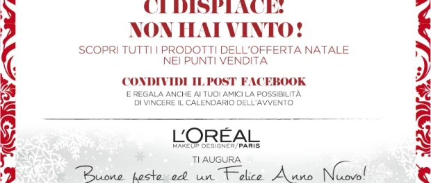 Calendario dell'Avvento L'Oreal Paris Italia