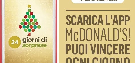Calendario dell'avvento Mcdonald's