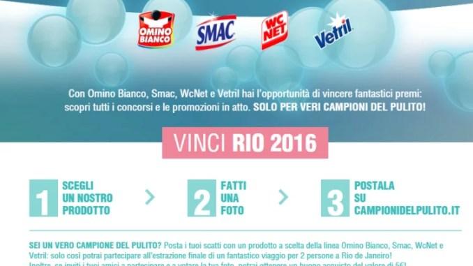 Campioni del Pulito Vinci Rio 2016 buoni acquisto