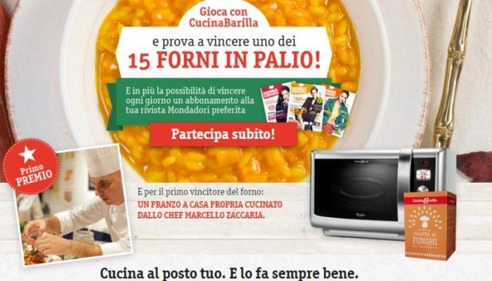 """Concorso """"Gioca e vinci con CucinaBarilla"""": 15 forni in palio"""