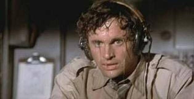 Robert Hayes sweating in Airplane