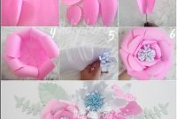 Cara membuat kerajinan bunga dari kertas