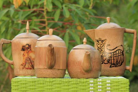 14 Kerajinan Tangan Dari Bambu Yang Unik dan Mudah Dibuat