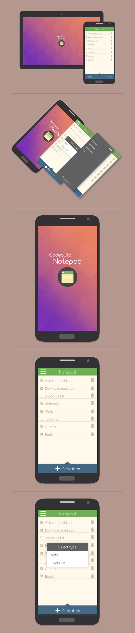 Android App UI Designs